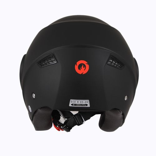Шлем открытый INFLAME PATRIOT моно, черный матовый